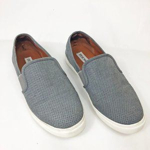 Steve Madden Evangel Grey Perforated Slip On 8.5
